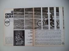 advertising Pubblicità 1972 MOTO GILERA 50 4V/4V SUPER/5V TRIAL/7HP TOURING 5V