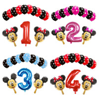 Disney Mickey Minnie Mouse 13 Birthday Foil Helium Balloons Birthday party