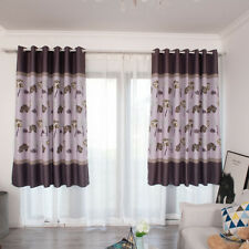 Bedroom Panels Curtains Polyester Decor Door Solid Lined Sheer Voile Window CO