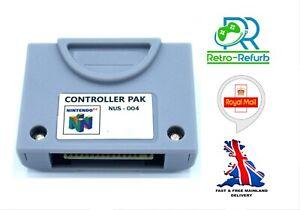 N64 Memory Pak NUS-004 Save Your Nintendo 64 Game Progress - Retro-Refurb UK