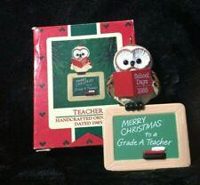 """1985 Hallmark """"Teacher"""" Ornament With Box"""