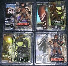 McFarlane Toys Movie Maniacs Series 6 Complete Set of 4 Alien & Predator New