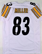 Heath Miller 2X Super Bowl Champ JSA Authentic SIGNED Pittsburgh Steelers JERSEY