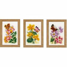 "Vervaco Miniaturen Stickset   "" Blumen"", 3er Set   KKPN0156498"