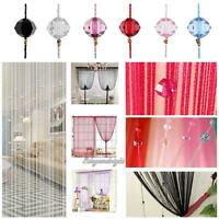 Room Window Door Beads Crystal String Curtain Beads Wall Panel Fringe Divider