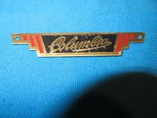 """Columbia Retro Style Bicycle Rear Rack Badge 2-7/8"""" Long -New"""