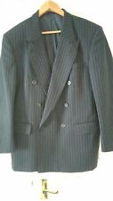 DAKS Gents Double Breasted Navy Pinstripe Jacket Size 40S