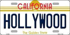 PLAQUE DE VOITURE AMERICAINE-HOLLYWOOD CALIFORNIA -NEUVE DECORATION USA/ BIKER