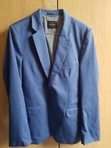 G. Lehmann Designer Blazer Sakko Jacke Sacko Gr. 170 helles blau Jungen