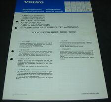 Einbauanleitung Volvo 740 / 760 B200E B230E B230K Radio Entstörung 10/1985!