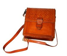 Genuine Leather Handmade Brown Shoulder Bag Retro Vintage Messenger Satchel 03