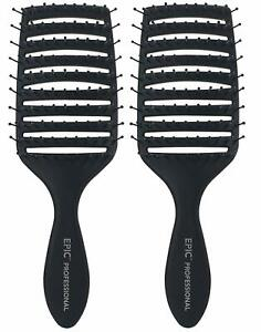2 PACK Wet Brush Pro Epic Professional Quick Dry Hair Brush IntelliFlex Bristles