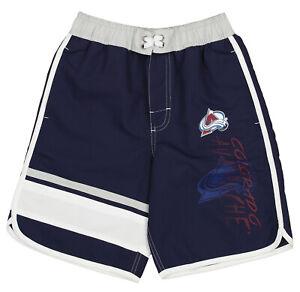 Outerstuff Colorado Avalanche NHL Boys Youth (8-20) Swim Shorts, Blue
