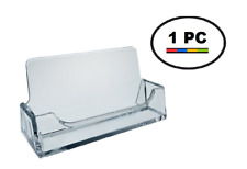 One Acrylic Plastic Business Card Holder T'z Tagz Style, Clear Display Stand