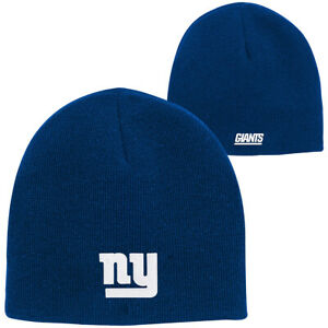 New York Giants NFL Big Kids' Basic Classic Blue Knit Beanie Cap Hat Youth NYG