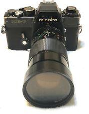 Minolta XE-7 Black 35mm camera with 28-90mm 1:2.8-3.5 VIvitar Series 1 Lens