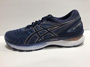 ASICS Gel Nimbus 22 Womens Running Shoes Grey/Blue Size 9.5 M