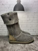 UGG Australia Womens Gray Classic Cardy 5819 Sweater Boots Size 8