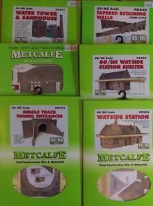 Metcalfe OO Gauge Kits (Railway Related Buildings) - BRAND NEW & UNMADE