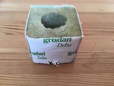 "Rockwool Dutch Delta 3"" Large Hole Cube - Grodan 200 Cubes Roughly"