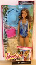Barbie fashionistas glam Vacation vacaciones Beach bañador azul dgy76 nuevo/en el embalaje original