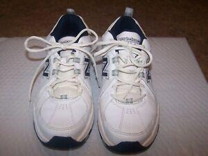 New Balance Sz 9 Mens 608 V3 MX608V3W White Navy Dad Running Shoes Lace Up