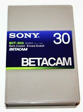 New in Case Sony Betacam SP BCT-30g 30 Min Beta Tapes Cassettes-NIP Back Co