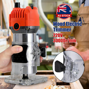 800W Wood Trim Router Woodworking Power Tool 30000rpm Electric Hand Trimmer O
