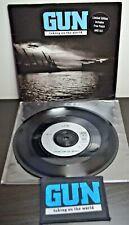 "GUN Taking on the World Free PATCH 1989 Metal Rock AMS541 Vinyl 7"" Single Record"