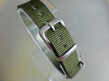 Uhrenarmband Nylon olive grün 12 mm NATO BAND Dornschließe Textil