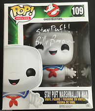 """BILLY BRYAN SIGNED 6"""" STAY PUFT MARSHMELLOW MAN GHOSTBUSTERS FUNKO POP PROOF J1"""