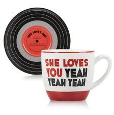 THE BEATLES Lennon & McCartney Lyrics CUP & SAUCER SET She Loves You