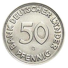 Deutschland 50 Pfennig 1950 G Bank Deutscher Länder im Schweberahmen