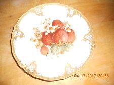 Vitnage Furstenberg Porcelain Gold Ornate Trim Plate with Fruit Decor
