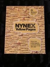 Rare 1991 - 1992 NYNEX Woburn MA Yellow & White Pages Phone Book