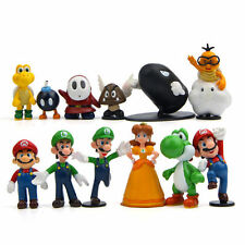 12pcs Super Mario Bros Figure Doll Playset Figurine Toy Cake Topper Kids Gift