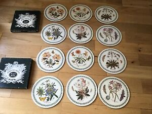 Portmeirion Botanic Garden Two Sets Of Place / Table Mats Corked Back - 12 Mats