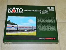 KATO N-Scale 106-081 Amtrak Southwest Limited Train 8 Car Set, w/Unitrack NIB