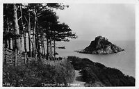 BR96016 thatcher rock torquay real photo  uk by night