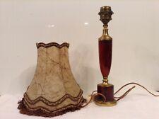 Table lamp cherry amber bakelite ( faturan ) and bronze , Art Deco 1930, France