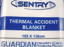 Sentry 185cm X 130cm Thermal Accident Emergency Blanket Camping Hiking First Aid