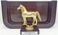 Vintage AMHA The Morgan Horse Club 1963 Grand Champion Stallion Trophy Plaque