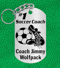 SOCCER Coach Keychain Gift, Personalized with their NAME & Team!