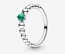 PANDORA Rainforest Green Beaded Ring 198598C05 Brand New!