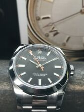 Rolex Oyster Perpetual Milgauss 116400 Black Dial 40mm Oyster Bracelet Complete