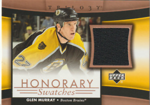 2005-06 U D Trilogy Honorary Swatches #HSGM Glen Murray Boston Bruins