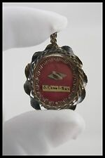 † 18TH ST CHARLES BORROMEO BISHOP STERLING ITALIAN RELIQUARY 1 RELIC WAX SEAL †