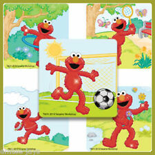 Elmo Stickers x 5 - Party Favours - Birthday - Outdoor Sport - Sesame St Glitter