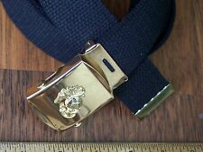 Belt & Buckle USMC Web Marine Corps  Military Style Semper Fi w P38 Can Opener