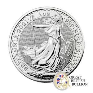 2021 Silver Britannia 1 Oz Coin in Capsule